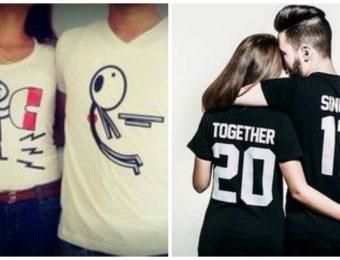 Maglie coordinate per coppie di innamorati