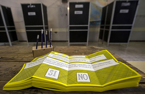 referendum: campagne elettorali a favore del Sì e del No